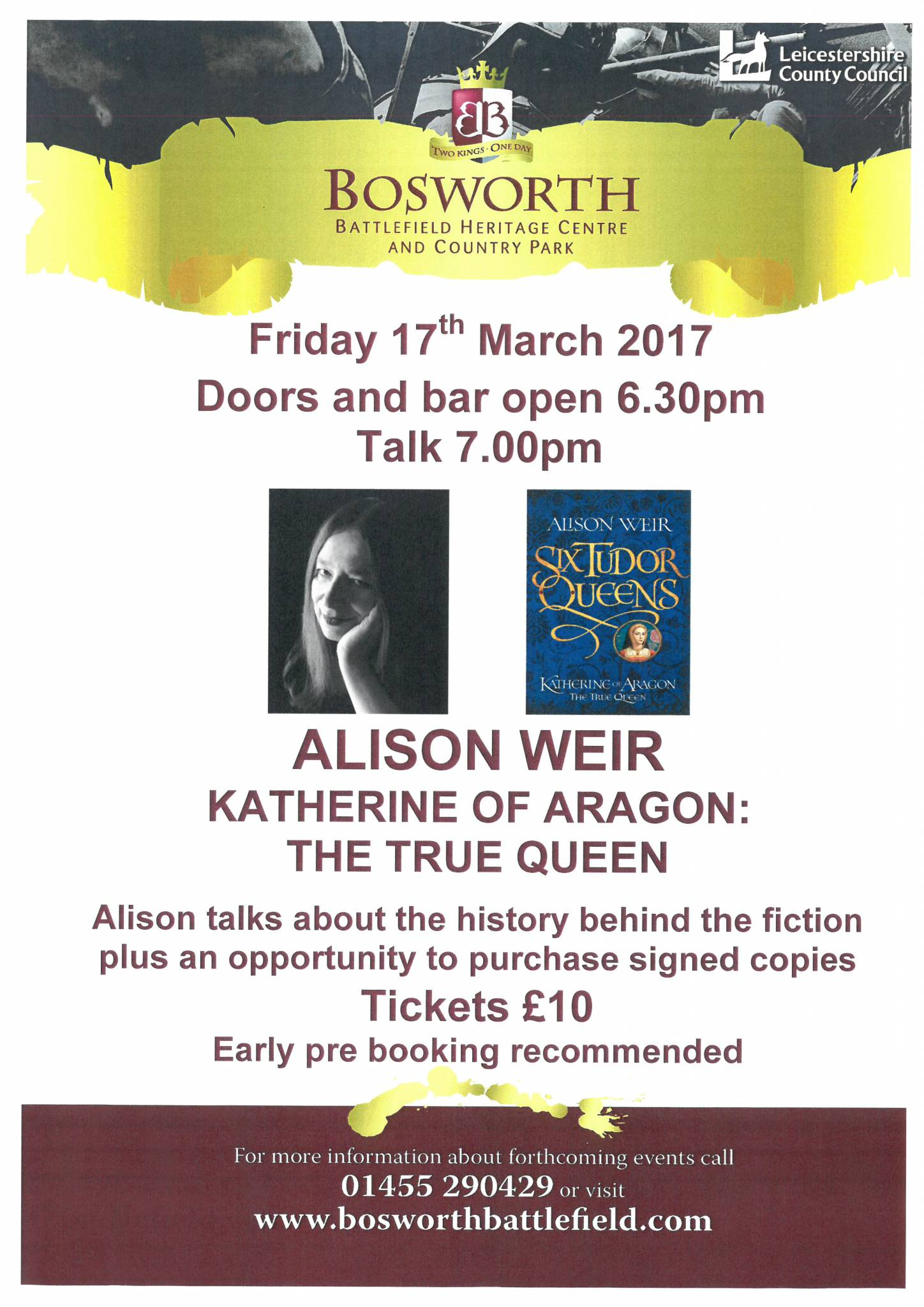 Alison Weir - Katherine of Aragon: The True Queen Talk - SOLD OUT