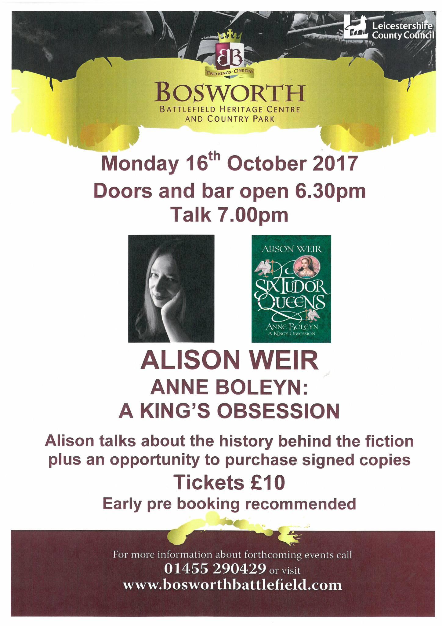 Alison Weir - Anne Boleyn: A King's Obsession (SOLD OUT)