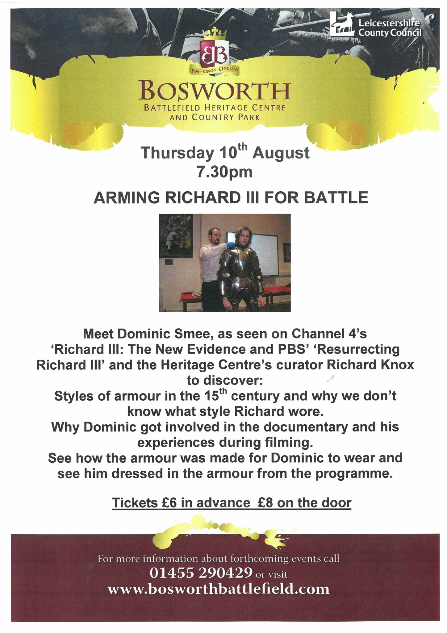 Arming Richard III for Battle - POSTPONED