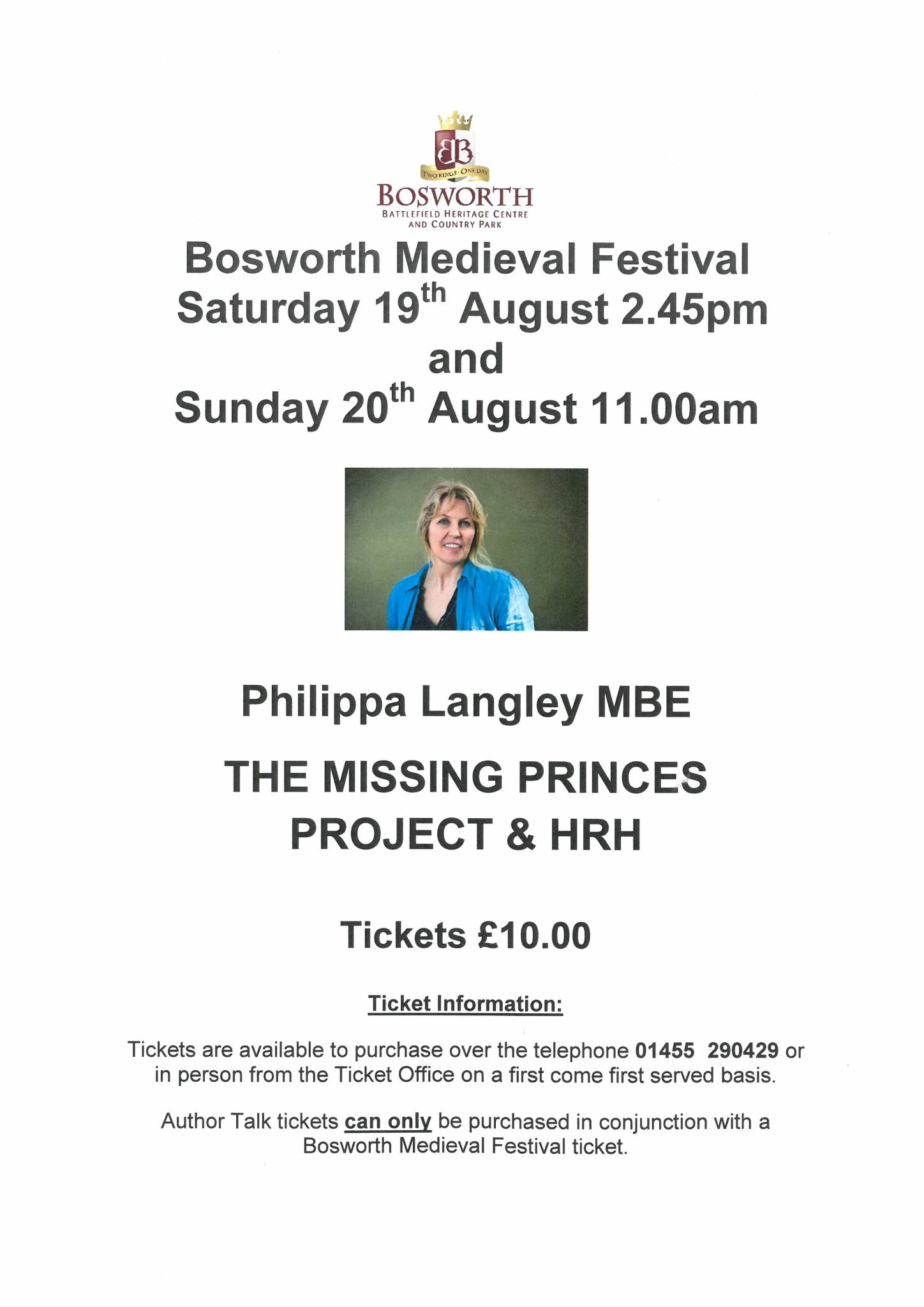 Philippa Langley Talk - The Missing Princes project & HRH SOLD OUT