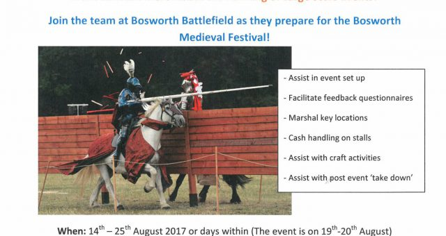 Bosworth Medieval Festival: Volunteer Recruitment Meeting