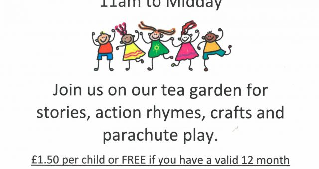 Stories, action rhymes, crafts & parachute games