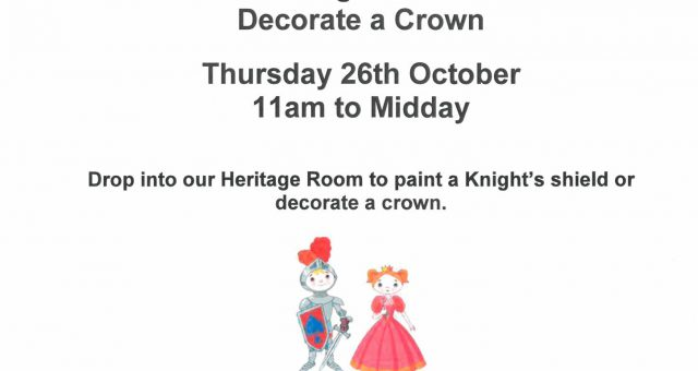 Paint a Knight's Shield or Decorate a Crown