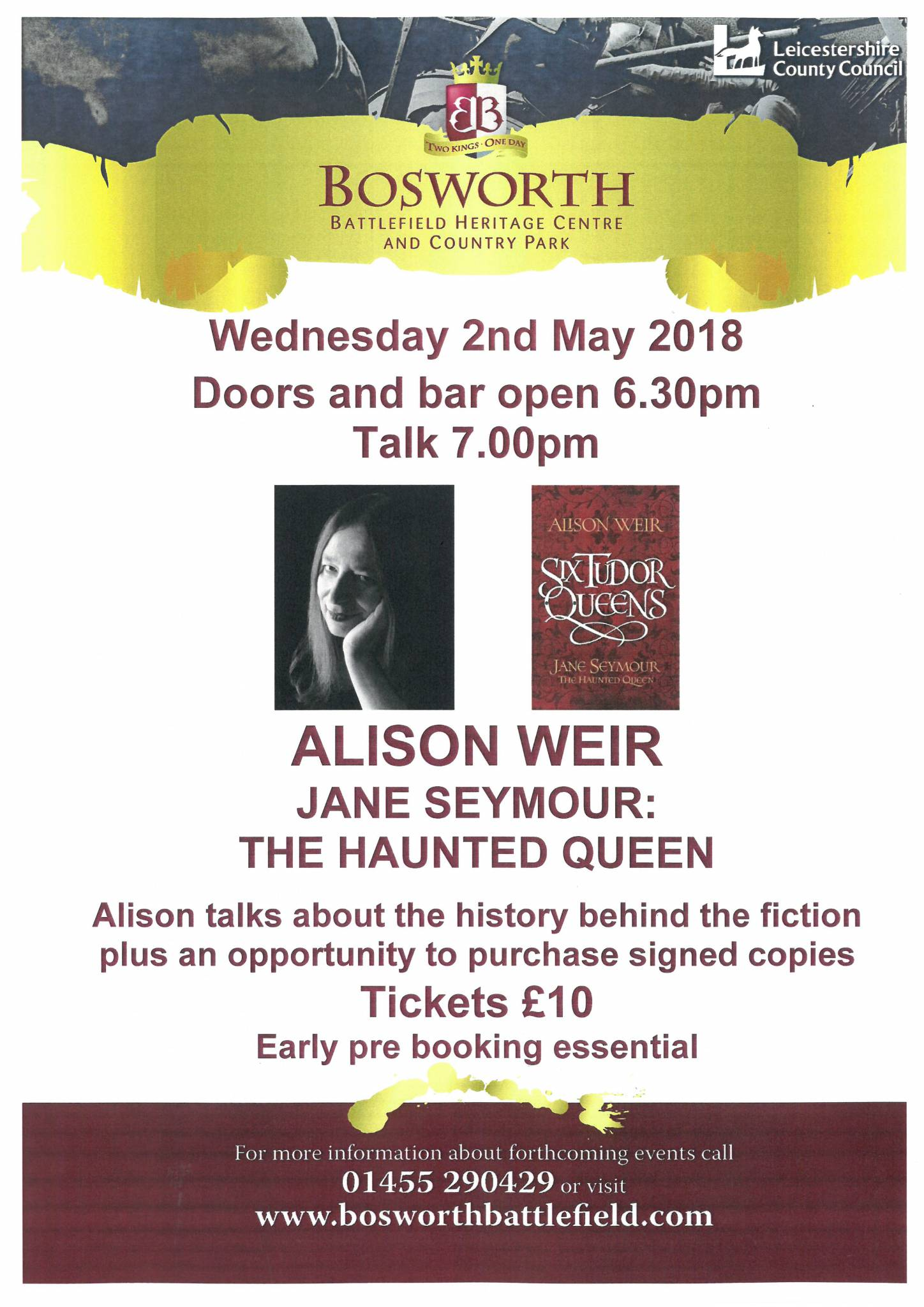 Alison Weir Talk - Jane Seymour: The Haunted Queen SOLD OUT