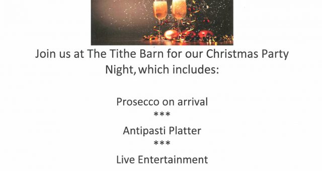 Tithe Barn Christmas Party Night