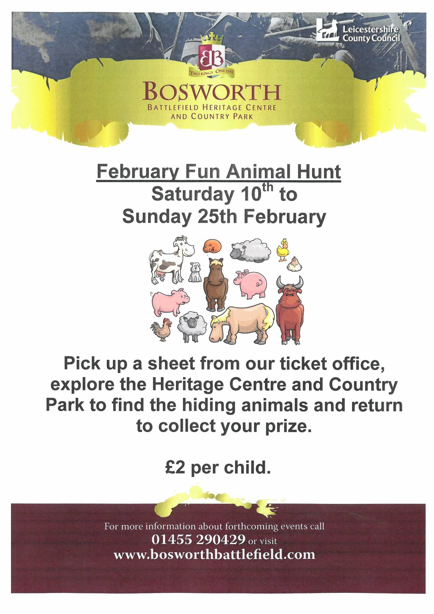 February Fun Animal Hunt