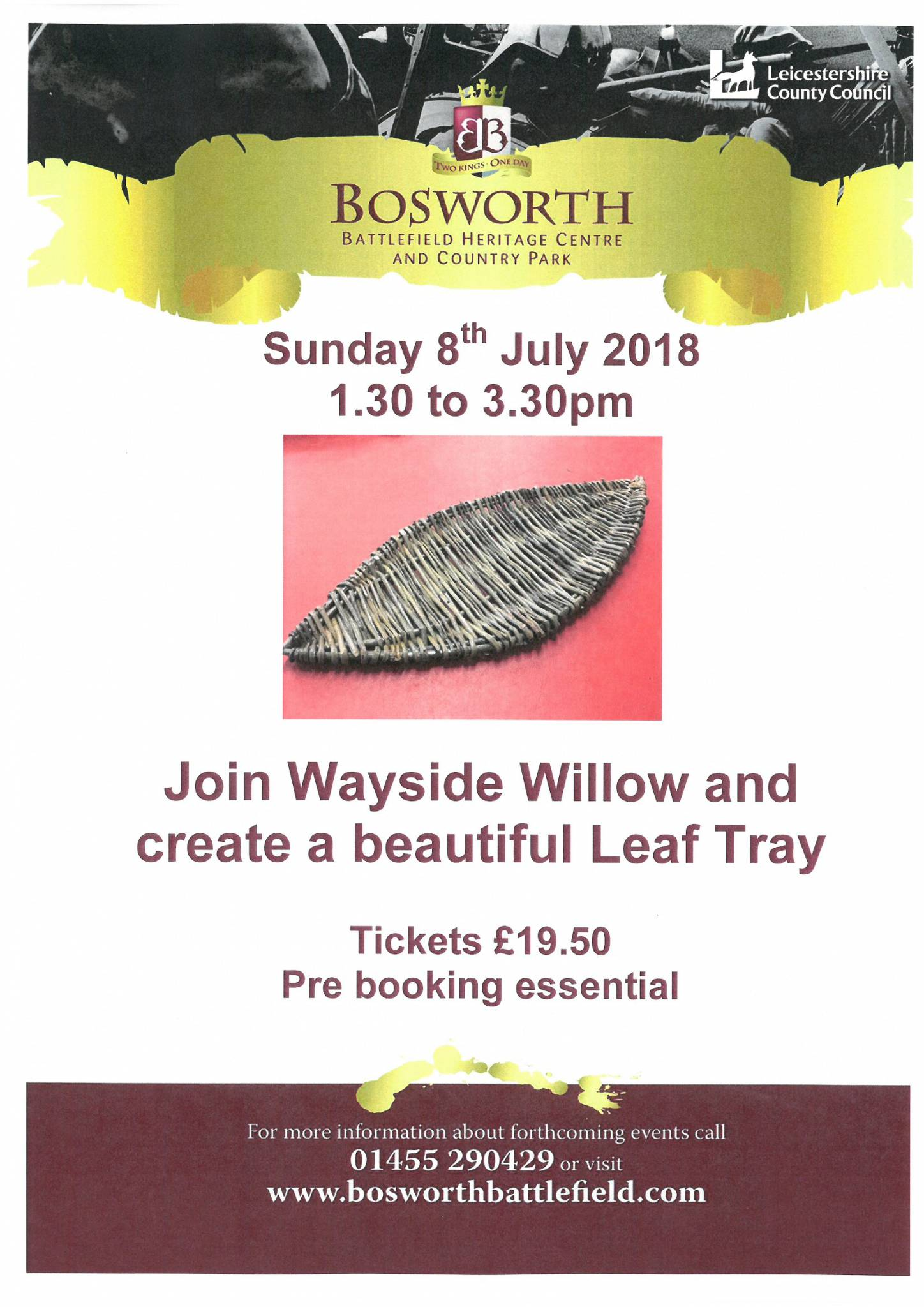 Willow Workshop - Create a beautiful Leaf Tray