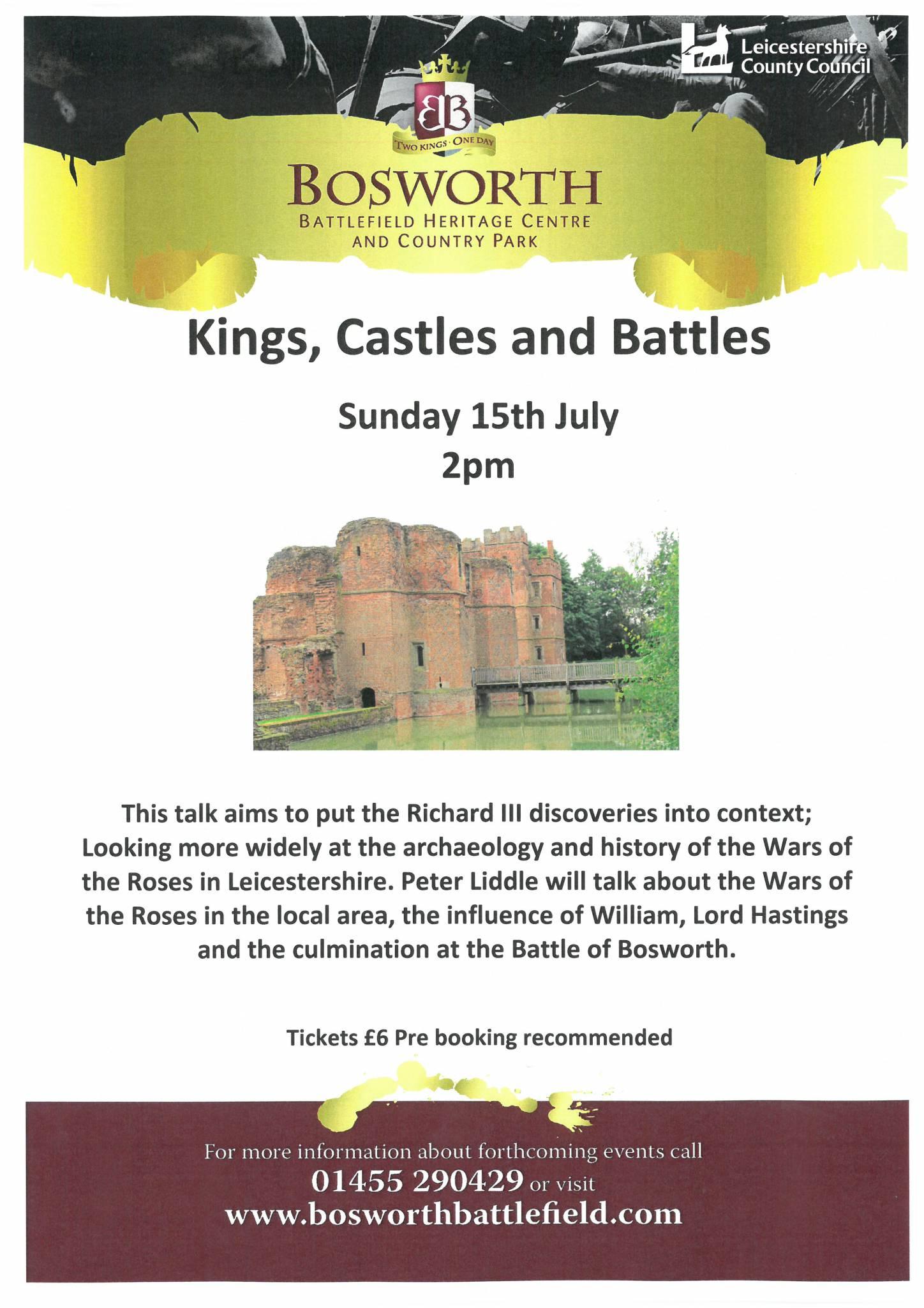 Festival of British Archaeology: Kings, Castles & Battles Talk