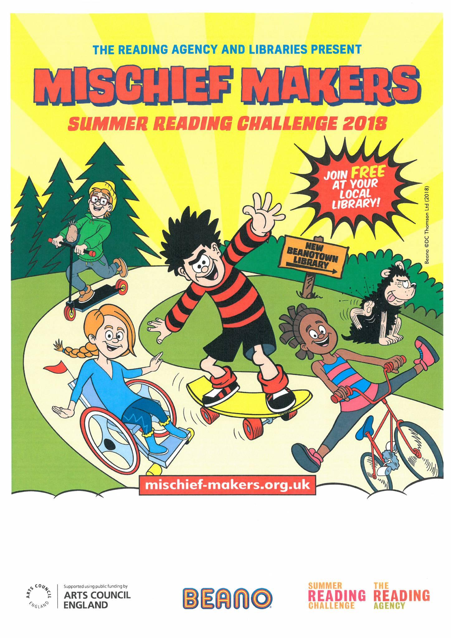 Summer Reading Challenge: Mischief Makers