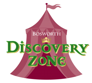 Bosworth Discovery Zone Logo - a medieval style tent