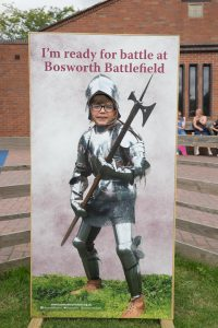 A child in the I'm ready for battle at Bosworth Battlefield photo frmae