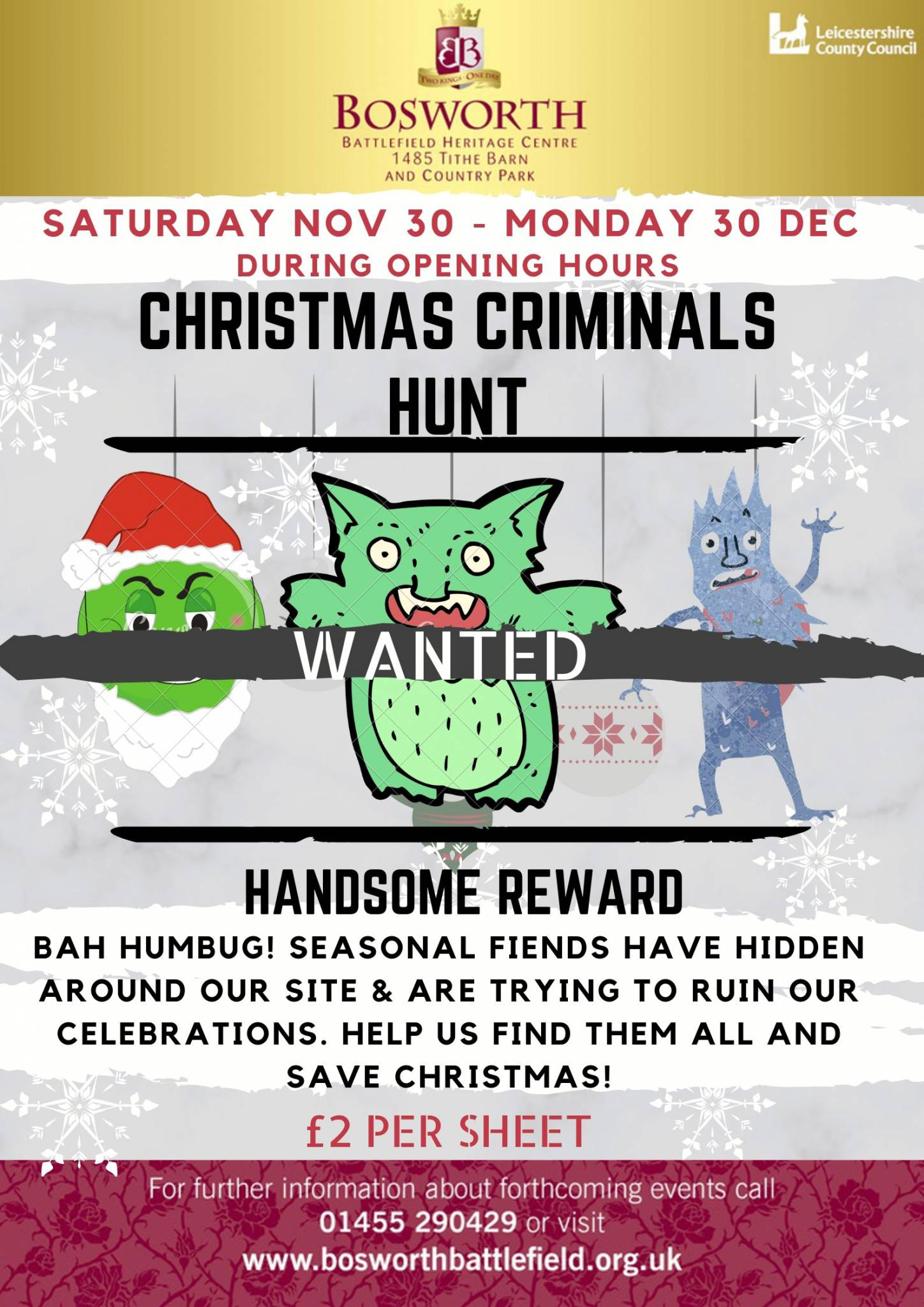 Criminal Christmas Characters Hunt